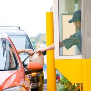 pest control at drive-thru restaurant